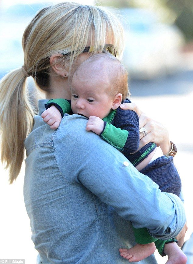 Bundle of joy: Reese Witherspoon spotted with baby boy Tennessee for the first time in Los Angeles on Wednesday