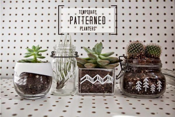 DIY: Personaliza recipientes de cristal para tus plantas