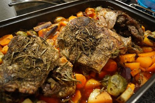 braised rosemary lamb shoulder Recipe