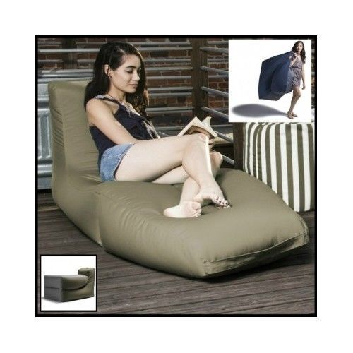 Large-Bean-Bag-Chair-Bed-Chaise-Lounge-Pool-Patio-Deck-Outdoor-Home-Kids-Sofa