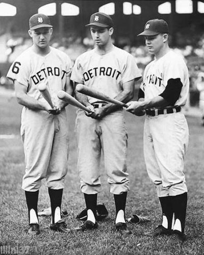 Detroit Tigers, AL KALINE-ROCKY COLAVITO-NORM CASH-DETROIT-TIGERS-BASEBALL-PHOTO