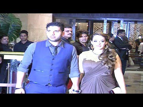 Yuvraj Singh & Hazel Keech at Preity Zinta Gene Goodenough's wedding reception.