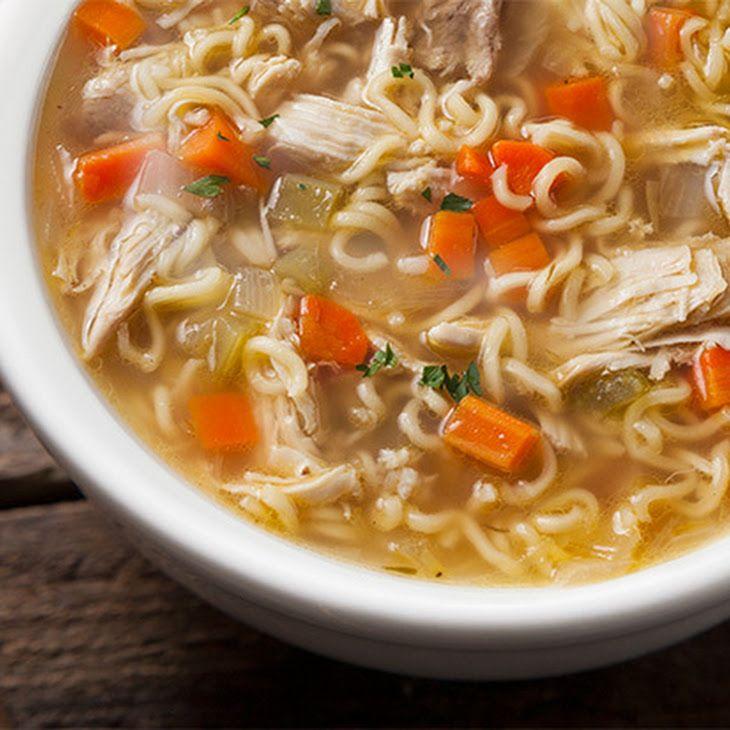Easy Chicken Noodle Soup Recipe Recipe Soup Pinterest
