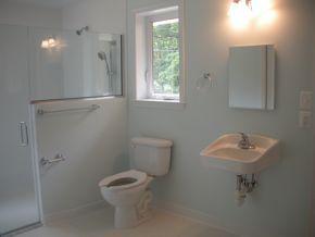 51 best images about handicap shower ramps on pinterest for Bathroom sample designs