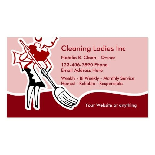 146 Best House Cleaning Business Cards Images On Pinterest