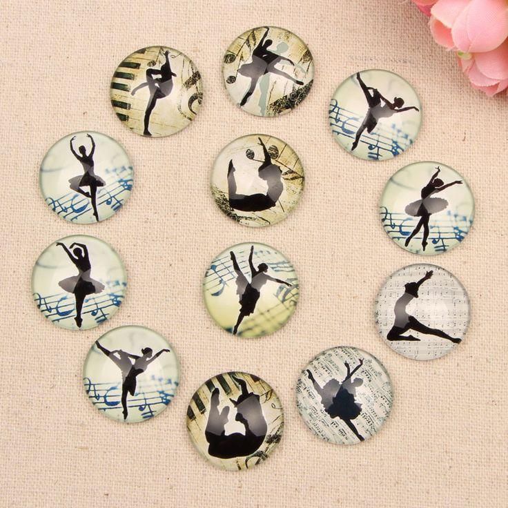 Onwear handmade gemischten ballett mädchen vintage glas cabochon 10mm 12mm 14mm 18mm 20mm 25mm diy schmuck machen zubehör in                          aus Schmuckzubehör Komponenten auf AliExpress.com | Alibaba Group