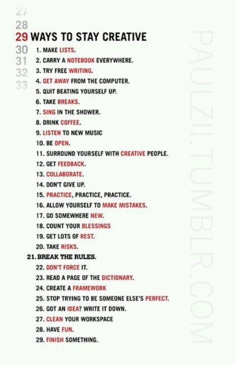 criatividade, se manter criativo, ideias, desenvolvimento pessoal.