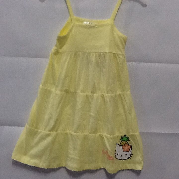 Vestito bambina Hello Kitty senza manica prendisole giallo taglia 10 anni