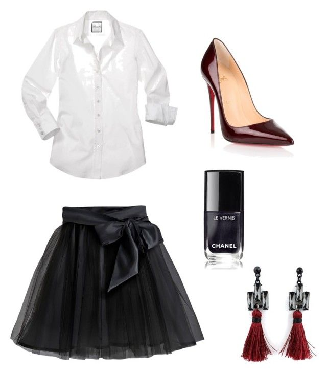 """""""Untitled #15"""" by fruzsina-sitku on Polyvore featuring Little Wardrobe London and Christian Louboutin"""