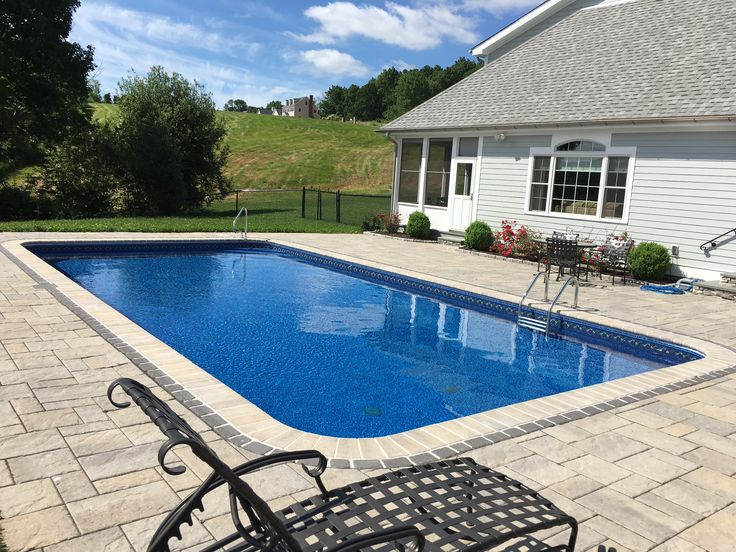 This Rectangle In Ground Pool In Southbury Features Paver Patio, Bullnose  Coping And More