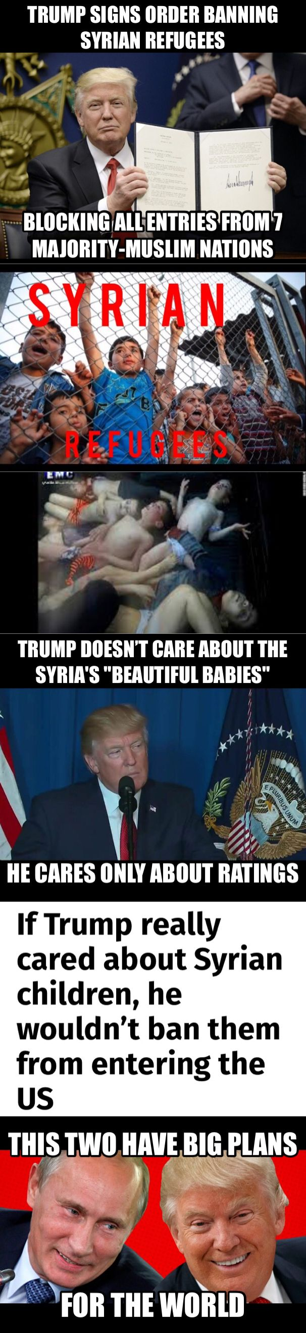 """Trump Still Wants to Keep Syria's """"Beautiful Babies"""" Out of the US """"These refugees are fleeing precisely the type of violence we are seeing this week in Syria."""" (April/2017)"""