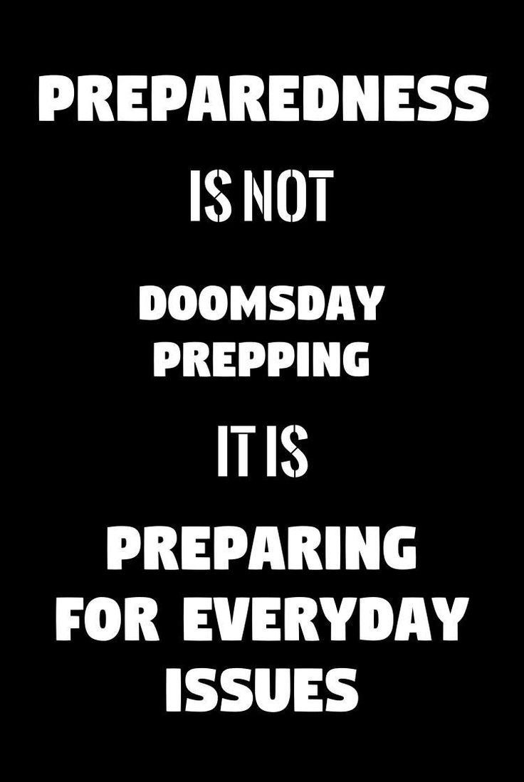 The stigma is the preparedness world is full of doomsday preppers waiting on the world to end. That's not the case, here's why prepping is a healthy choice