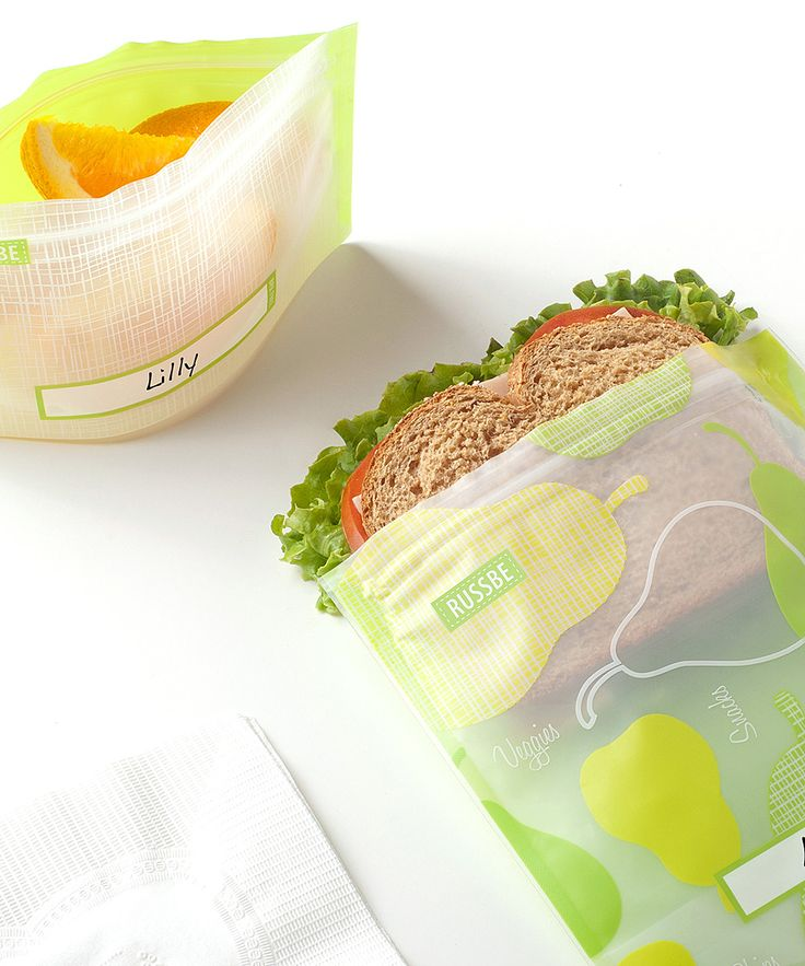 Pear Linen-Blend Snack & Sandwich Bag Set | something special every day