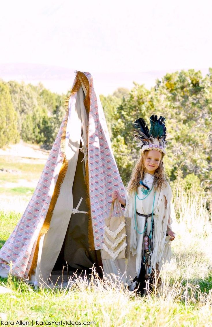 No Sew DIY Sacagawea costume | Kara's Party Ideas