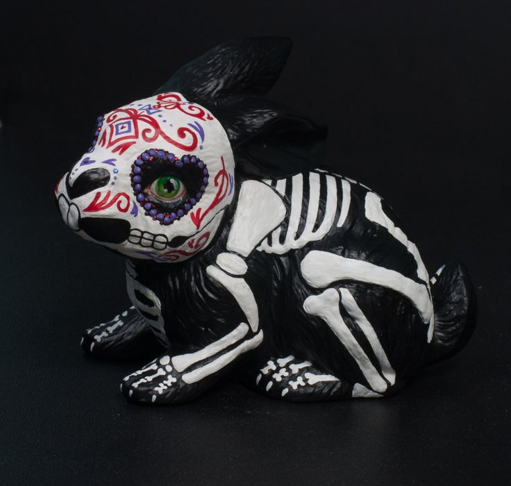Day of the Dead Bunny by temikasperry on Etsy
