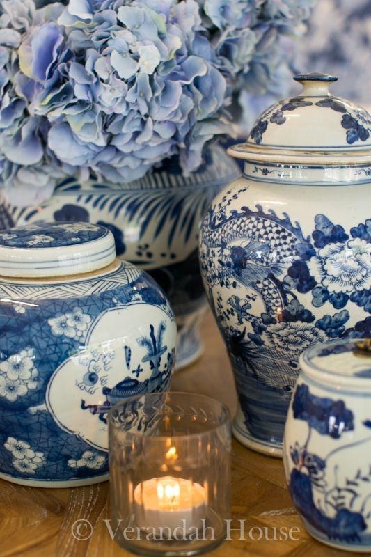 »☆Elysian-Interiors ♕Simply divine #porcelain #interiordesign ~ blue and white ginger porcelain jar ~ Verandah House Interiors