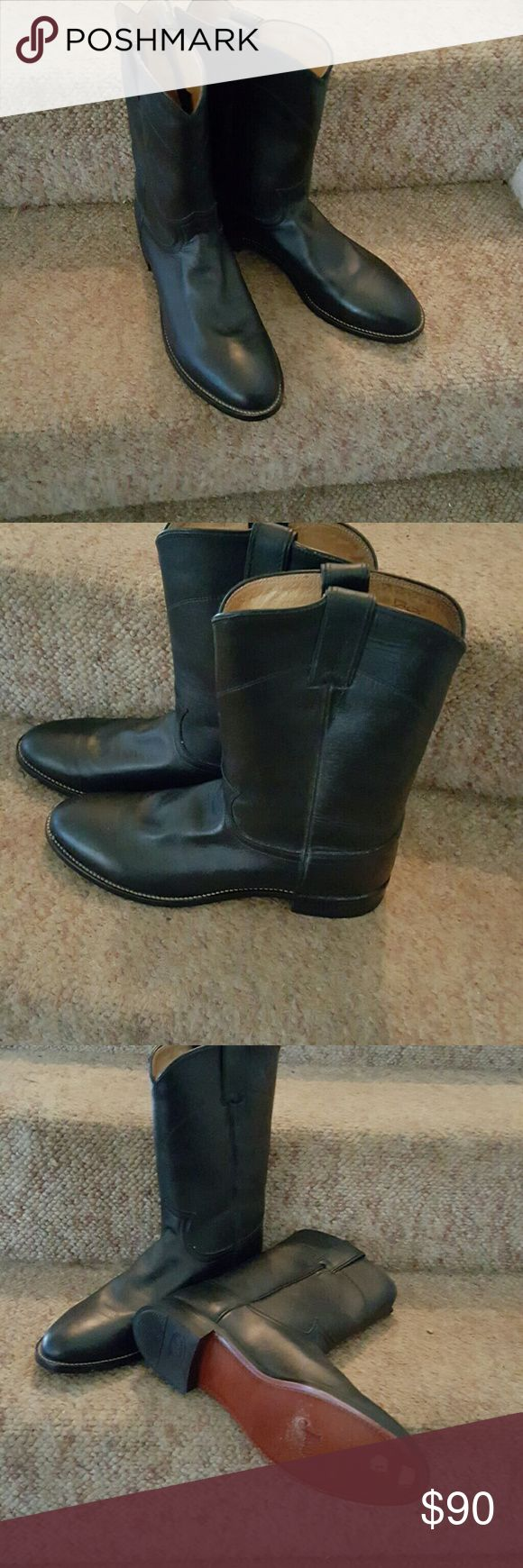 Cowboy boots Black mens justin cowboy boots Size 9 Brand new, never worn Justin Boots Shoes Combat & Moto Boots
