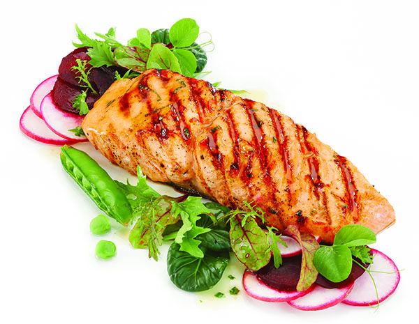 Regal Salmon Fresh Cuts Portions with Beetroot and Radish Salad and Orange Mint Dressing  http://www.regalsalmon.co.nz/recipes/regal-salmon-fresh-cuts-portions-with-beetroot-and-radish-salad-and-orange-mint-dressing