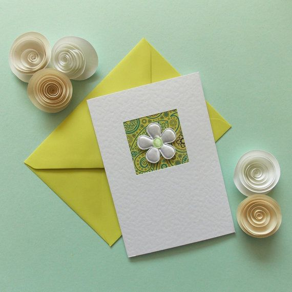 Blank Card mum modern note card for her hand made greeting