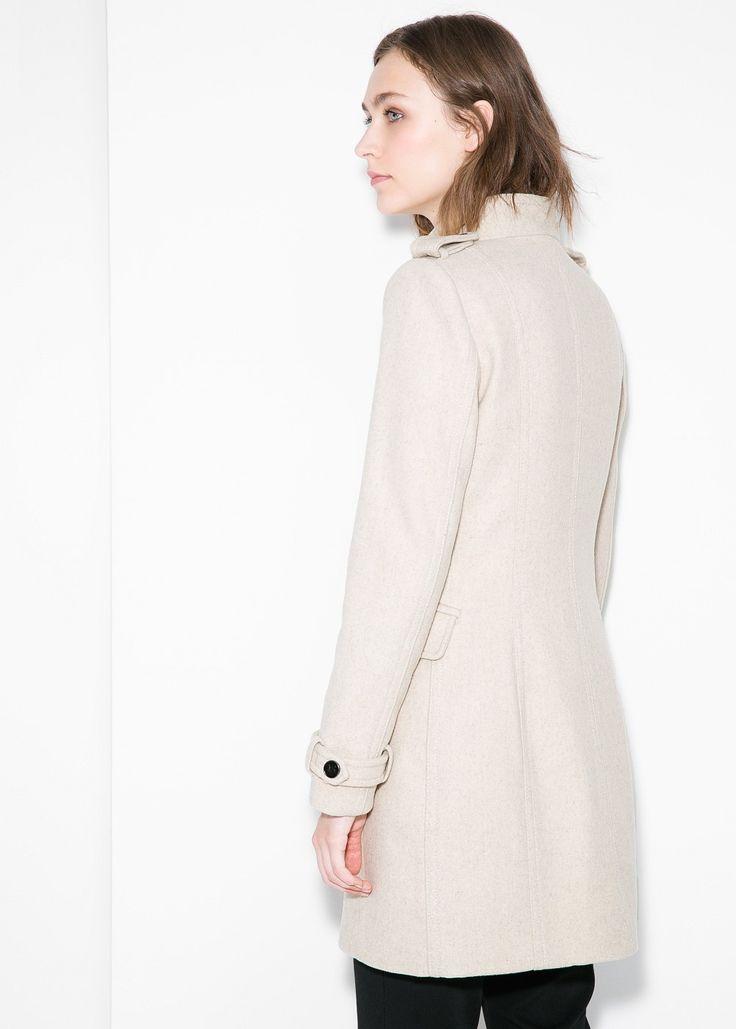 Cappotto lana doppia abbottonatura