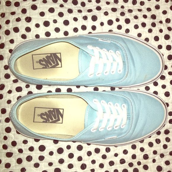Tiffany blue vans Tiffany blue vans only worn a handful of times still has full tread bottom Vans Shoes Sneakers