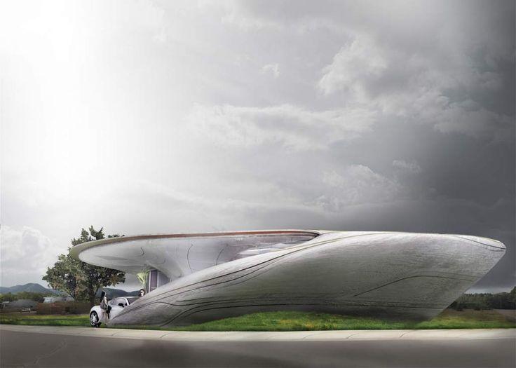 Curve Appeal, a carbon fiber and plastic house