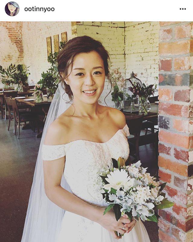 #repost  Im glad I helped @ootinnyoo special day  #hair #makeup by me #hairstyle #hairandmakeup #makeupartist #bride #bridal #wedding #weddingday #weddingphoto  #mua #hmua #weddingdress #ウェディング #ブライダル #ブライド #メイク #メルボルン #海外挙式 #melbournemakeupartist #melbournehairandmakeupartist  #melbournehair #melbournewedding #japanesemakeupartist