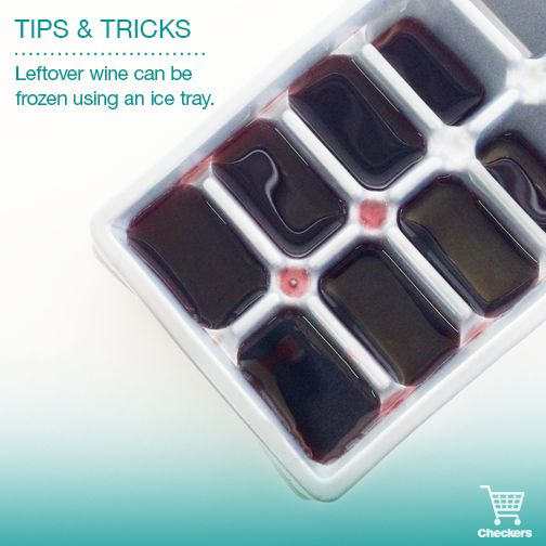 Freeze leftover wine in an ice tray...