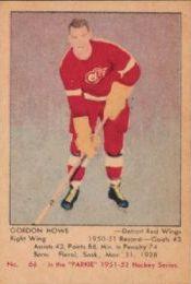 SportsCollectorsDaily.com: 1951-52 Parkhurst #66, the Gordie Howe rookie card.