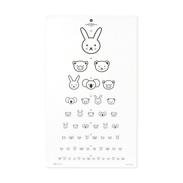 Eye Chart Print Black