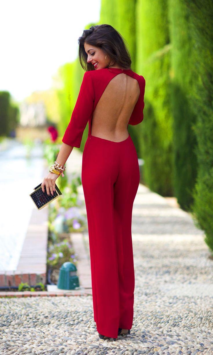 Silvia Navarro Mono crepe rojo Mod.Carmín, €190,00