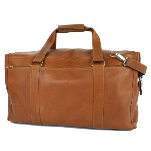 Piel Leather Extra Large Zip Pocket Duffel Dual Opening To Roomy Main Compartment With A And Two Open Pockets