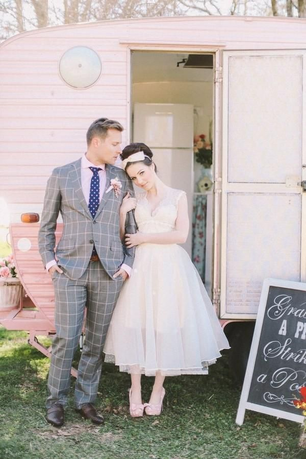 vintage midi wedding dress hot trend for wedding season ss 2014