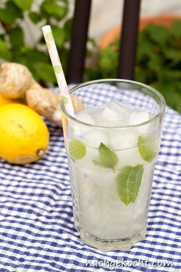 Ingwer-Limo bzw. Ginger-Beer selbst gemacht. Herrlich erfrischend und so einfach herzustellen.