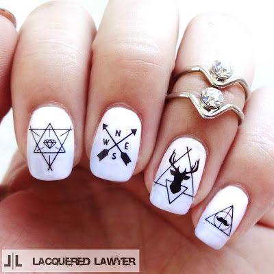 Best 25+ Hipster nail art ideas on Pinterest | Black dot ...