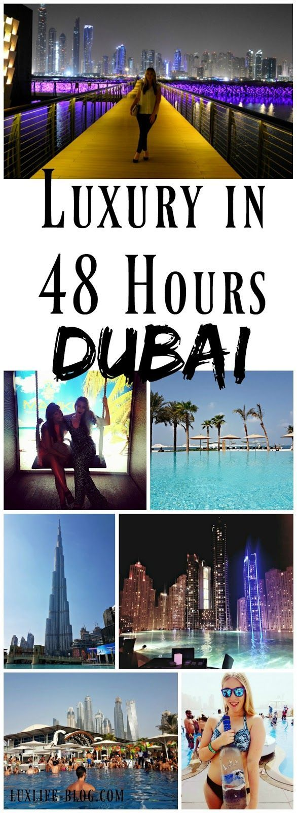 *Pin For Later* The best tips for the ultimate luxury 48 hours in Dubai! Take a look to find out the best hotels, restaurants, beach clubs, bars, and nightclubs!
