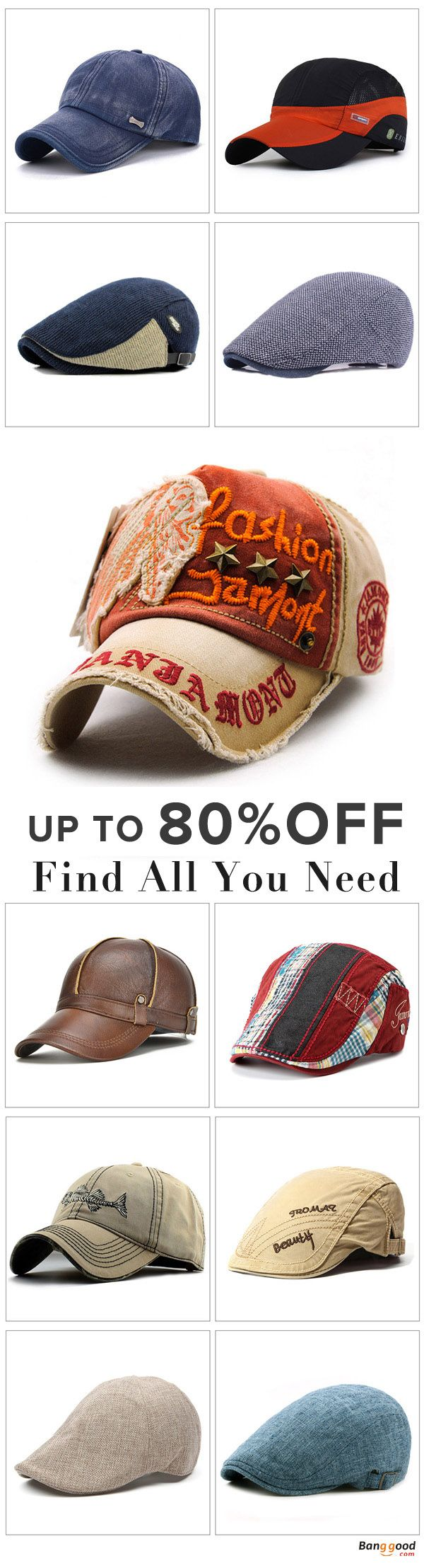 Hot Sales Accessories. Men's Cap, Men's Fashion, Beret Hat, Golf Hat, Baseball Hat, Cabbie Hat. Hot Sales Hat, All the accessories you want can find in banggood.com. Shop now~