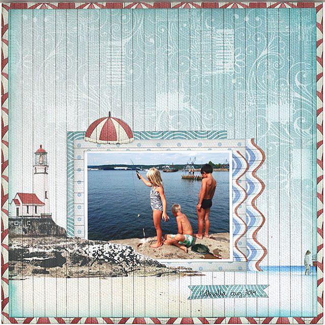 mitt kreativa kaos: Nya varumärken på DESIGN in PAPERS .:. sneak peak FabScraps Beach Bliss