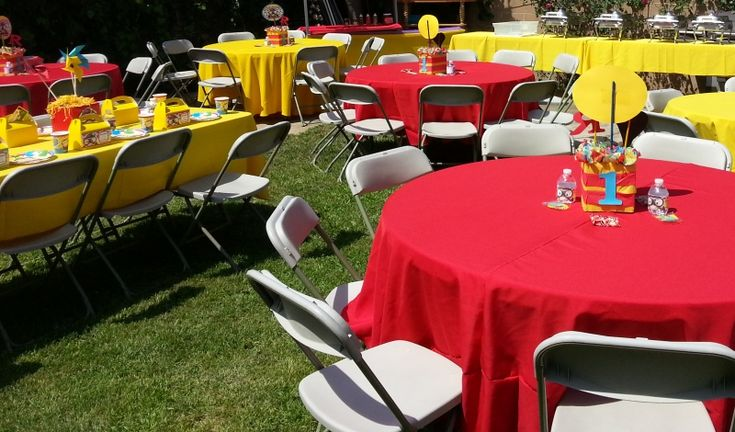 Party & event rentals including:  tables, chairs, canopies, tent, lights, special effects, popcorn carts, snow cone carts, cotton candy carts, patio heaters, helium tanks, inflatable bouncers & more!