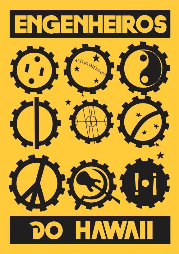 Poster Decorativo Engenheiros do Hawaii; Tamanho A3 (29,7x42cm); Impresso em Papel Couché 250g; Não acompanha Moldura.. Código: 1296278
