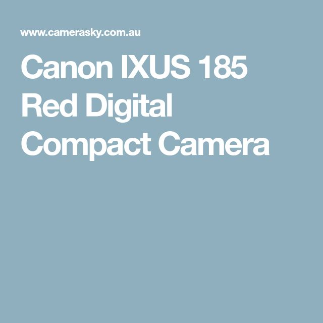 Canon IXUS 185 Red Digital Compact Camera