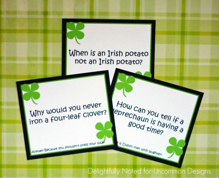 Give your child a special treat this St. Patricks Day with these free printable lunch box jokes.