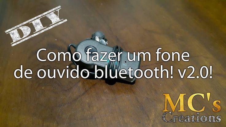 [DIY] Como fazer um fone de ouvido bluetooth! v2.0! Hoje vamos fazer um novo fone de ouvido bluetooth mas dessa vez de forma muito mais fácil e rápida! isso tudo porque vamos utilizar um receptor bluetooth que já vem com bateria e é recarregavel. Link do primeiro fone de ouvido bluetooth que fiz: https://youtu.be/XH9tE06E5x0 Precisaremos de:  Um receptor bluetooth para carro - usei este: http://ift.tt/2hxaEAR - MAS ATENÇÃO: o meu veio mono. Talvez tenha sido azar talvez seja o produto mesmo…