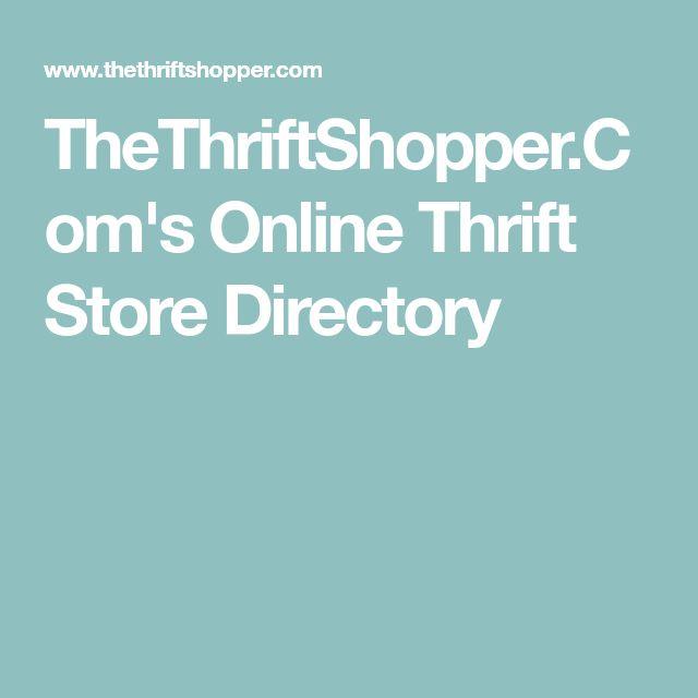 TheThriftShopper.Com's Online Thrift Store Directory