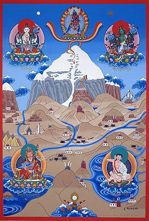 sacred Kailash. With the Holy Meru-Mountain as a Way from Hell to the Heaven.