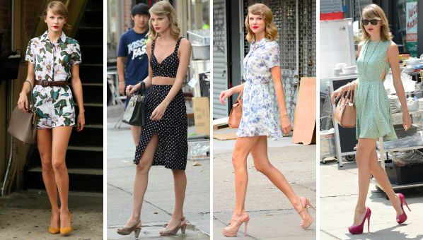 Check out photos of Taylor Swift leaving the gym on SHEfinds.com.