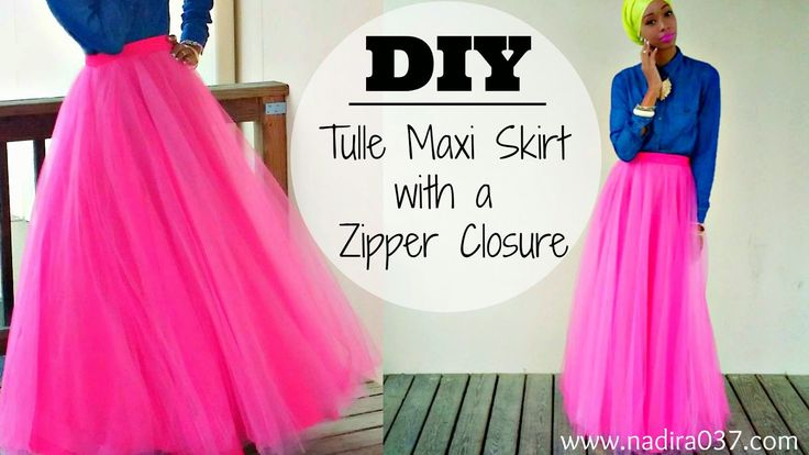 diy maxi skirt tutorial with pockets | DIY | Tulle Maxi Skirt | Zipper Closure | Tutorial