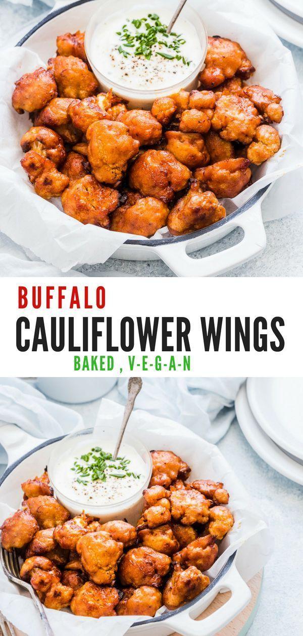 Baked Buffalo Cauliflower Wings Vegan Cauliflower Hot Wings Recipe Recipe Hot Wing Recipe Baked Buffalo Cauliflower Cauliflower Wings