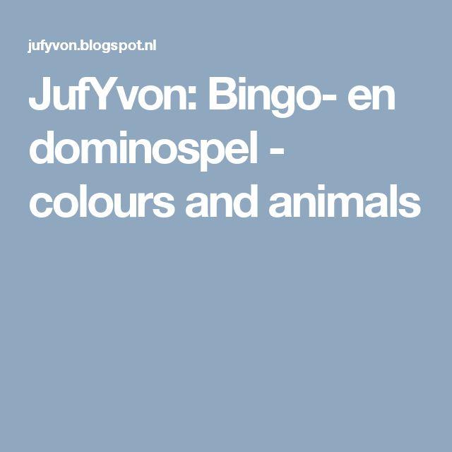 JufYvon: Bingo- en dominospel - colours and animals