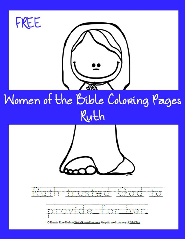 Sharing The Story Of Ruth With Your Little Ones Gives You Opportunity To Share A Bible Coloring PagesChristian
